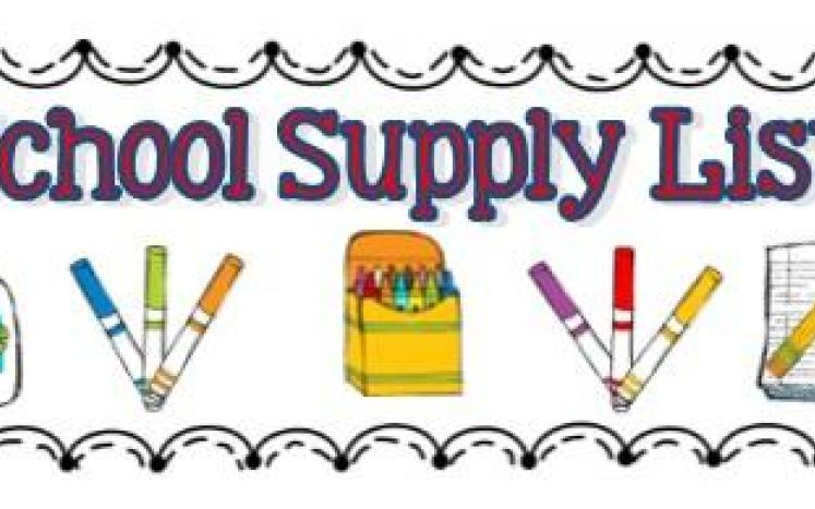 School Supply Lists for 2021-2022